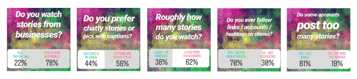 Poll results research for Instagram Stories